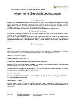 Allgemeine Geschaeftsbedingungen AGB